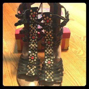 Jeffrey Campbell embellished gladiator sandals